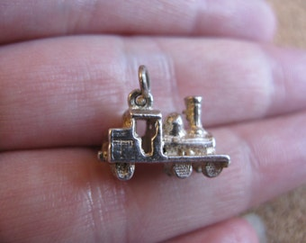 Vintage Silver Toy Train Charm