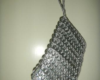 unique pull tabs wristlet evening bag