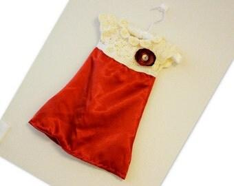 Pattern Girls Dress with Crochet Yoke and Fabric Skirt Baby Newborn Toddler No: 312