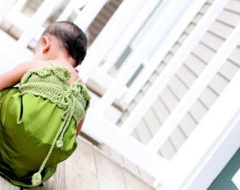 Pattern Crochet Yoke Fabric Skirt Dress Sewing Crocodile Stitch Baby Newborn Toddler Easy Tutorial Dewdrops No: 216
