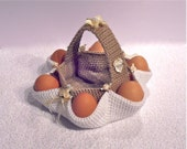 003 Crochet Pattern Easter egg hunt basket PDF file by Sharapova Etsy