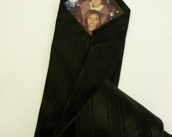 Personalized Peek-A-Boo tie with YOUR photo hidden inside