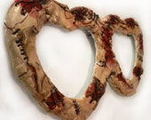 Zombie Stitched Skin Picture Frame - Scarred Heart Gift - Gothic Zombie Horror Love
