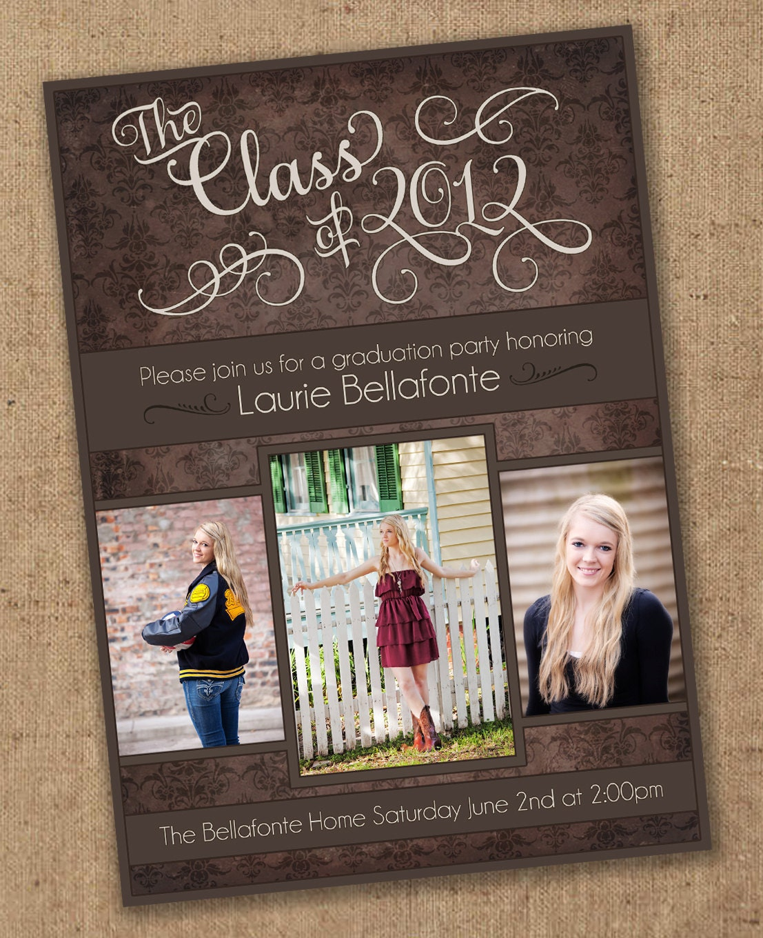 It is a photo of Gratifying Printable Graduation Announcement