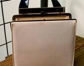 1960's Navy & Ivory Patent Leather Handbag