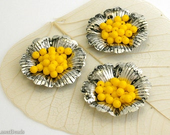 Small Bright Yellow Glass Beads 4mm Czech Pressed Round Druk Opaque Lemon (100) Spring last