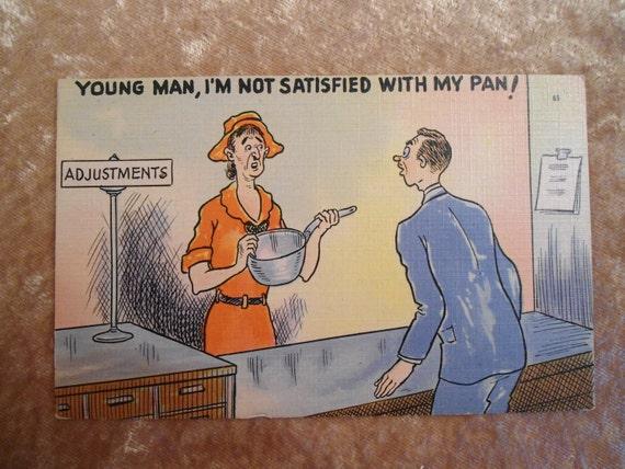 Vintage Postcard 1950s Adjustments
