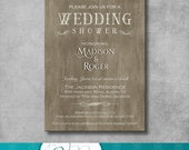 Rustic Elegant Wedding Shower Invitation - DIY - Printable - Customizable - Country - Digital - Bridal Shower Invite - Engagement Party