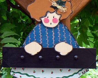 coat rack blue doll