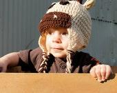 Crochet Deer Hat, Moose Hat, Newborn, Toddler, Childrens Hat, Made to Order