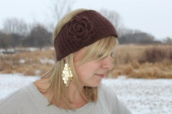 Women's Crochet Headband, Women's Hat, Flower Headband, Made to Order