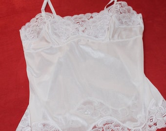 Nylon and Lace Camisole