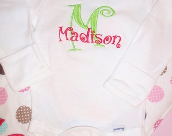 Personalized Onesie - Boy or Girl & your choice of 5 fonts