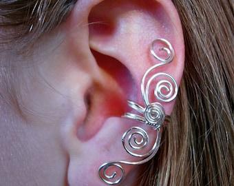 "PAIR / TWO Ear Cuffs Pair choose your metal Multi Swirl Ear Cuffs ""Swirls Galore"" 2 ear cuffs in this listing"