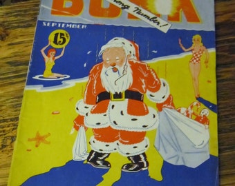 Antique Magazine Bunk 1930s BUNK Publication Vintage pre-Mad Magazine Mixed Media Art Supplies