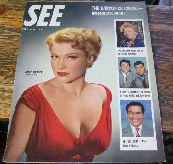 Vintage Magazine SEE January 1953 Mixed Media Supplies Retro Publication Historical Photos