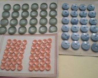 80s Resin Buttons, Carded, new old stock, update wardrobe, craft supplies, sewing supplies, mixed media, egst, Greece