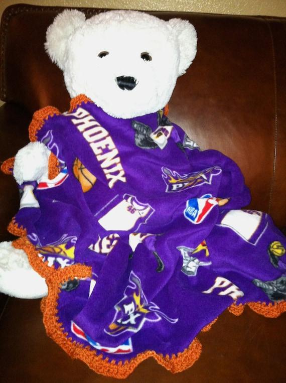 20% Off Sale! Phoenix Suns Basketball Purple Fleece Sports Baby Blanket