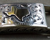 IN STOCK Handmade Dress Buckle Hand Engraved with State of Texas Overlay