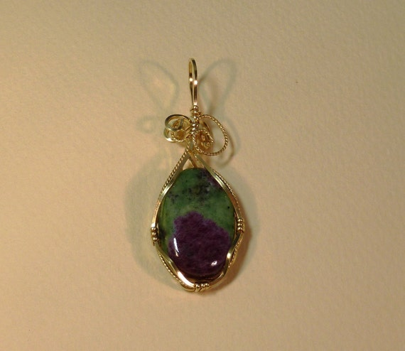 Ruby Zoisite, 14K Gold Filled