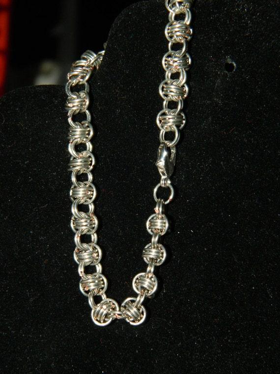 Silver Barrels chainmaille bracelet