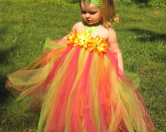 Hawaiian Luau Tutu Dress sizes 12-18m,  18-24m, 2t, 3t, 4t, 5t, 6