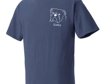 Bulldog Garment Dyed Cotton T-shirt