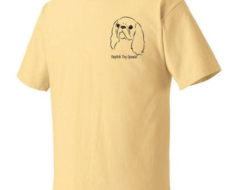 English Toy Spaniel Garment Dyed Cotton T-shirt