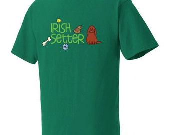 Irish Setter Doodle Garment Dyed Cotton T-shirt
