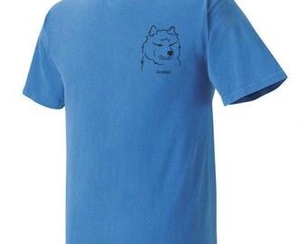 Keeshond Garment Dyed Cotton T-shirt
