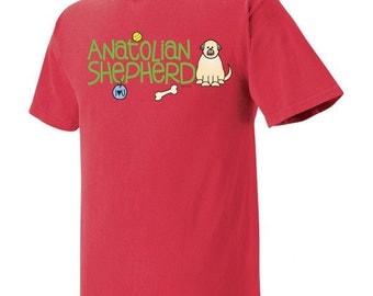 Anatolian Shepherd Doodle Garment Dyed Cotton T-shirt
