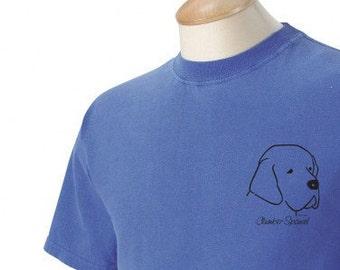 Clumber Spaniel Garment Dyed Cotton T-shirt