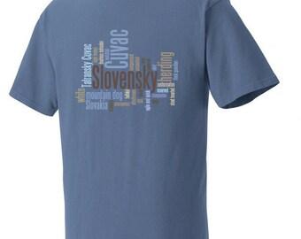 Slovensky Cuvac Garment Dyed Cotton T-shirt