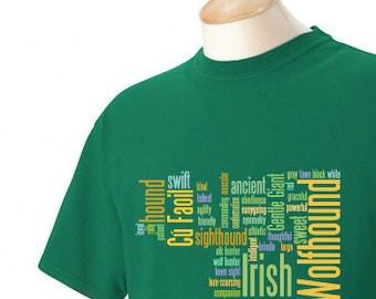 Irish Wolfhound Garment Dyed Cotton T-shirt