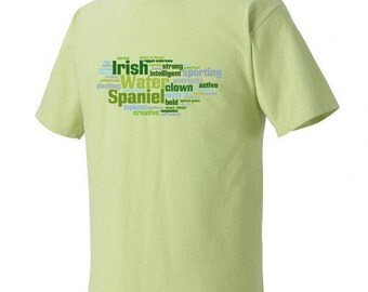 Irish Water Spaniel Garment Dyed Cotton T-shirt