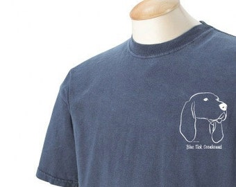 Blue Tick Coonhound Garment Dyed Cotton T-shirt
