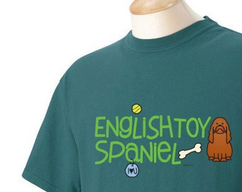 English Toy Spaniel Doodle Garment Dyed Cotton T-shirt