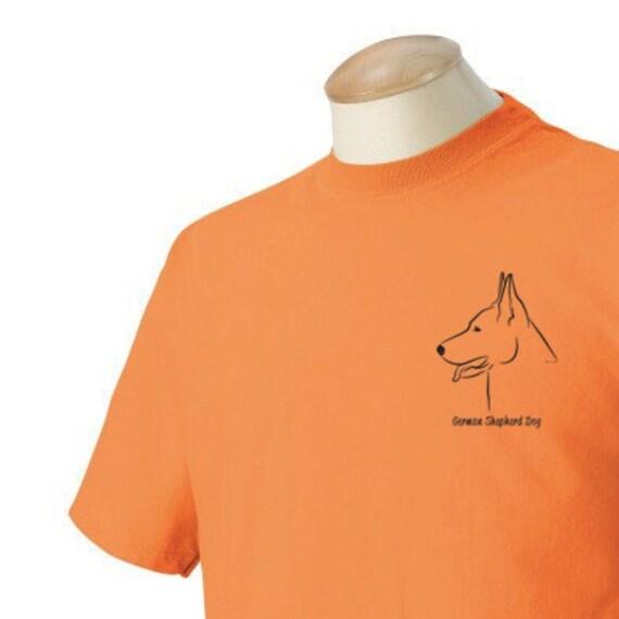 German Shepherd Garment Dyed Cotton T-shirt