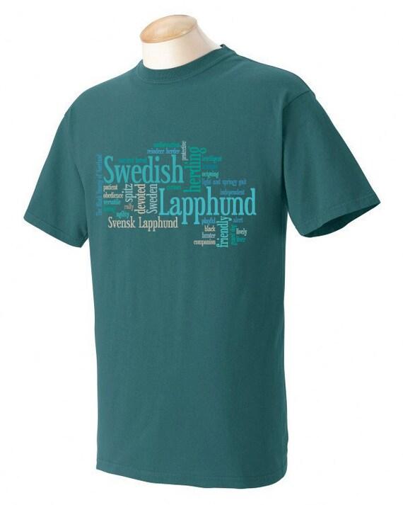 Swedish Lapphund Garment Dyed Cotton T-shirt