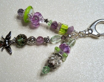 Purple and Greens - Decorative Clip with Fairy