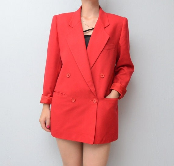 RESERVED for Zoe Vintage Christian DIOR red Blazer