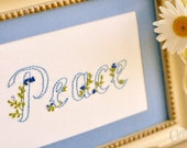Peace - Fruit of the Spirit Series - Embroidery Pattern PDF