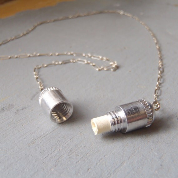 the Note & Capsule necklace -  best friends, anniversary, paper anniversary, going away gift, secret note, secret message