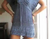 SALE///Blue Crochet Mini Dress/Top