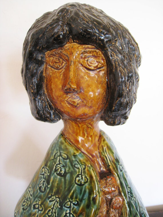 Mid century modern sculptured figure of a woman