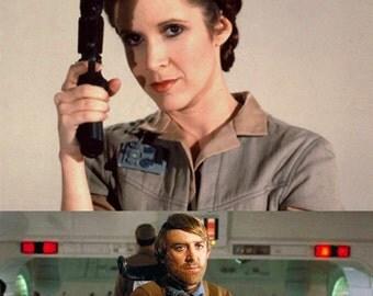 Star wars Endor rebel rank insignia Leia/Madine