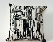 Final Sale! Clay Shapes Pillow Cover in Black and White- Modern Pillow Cover
