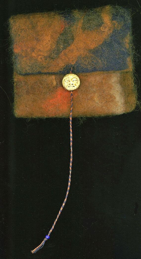 Hecate Sleeping -- wet felted bag