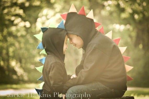 Dinosaur Hoodie - Custom - Pick your own Spike Colors - Toddler