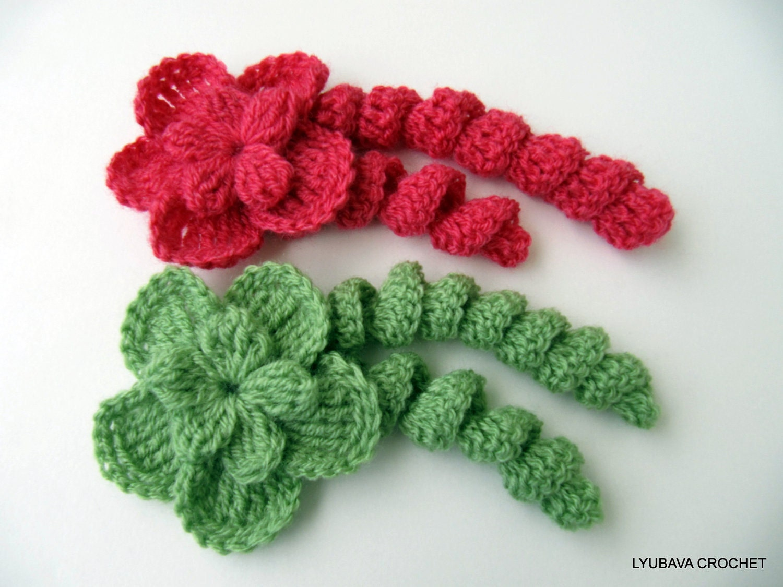Crochet Flower PATTERN Unique Flower With Curls DIY Crochet
